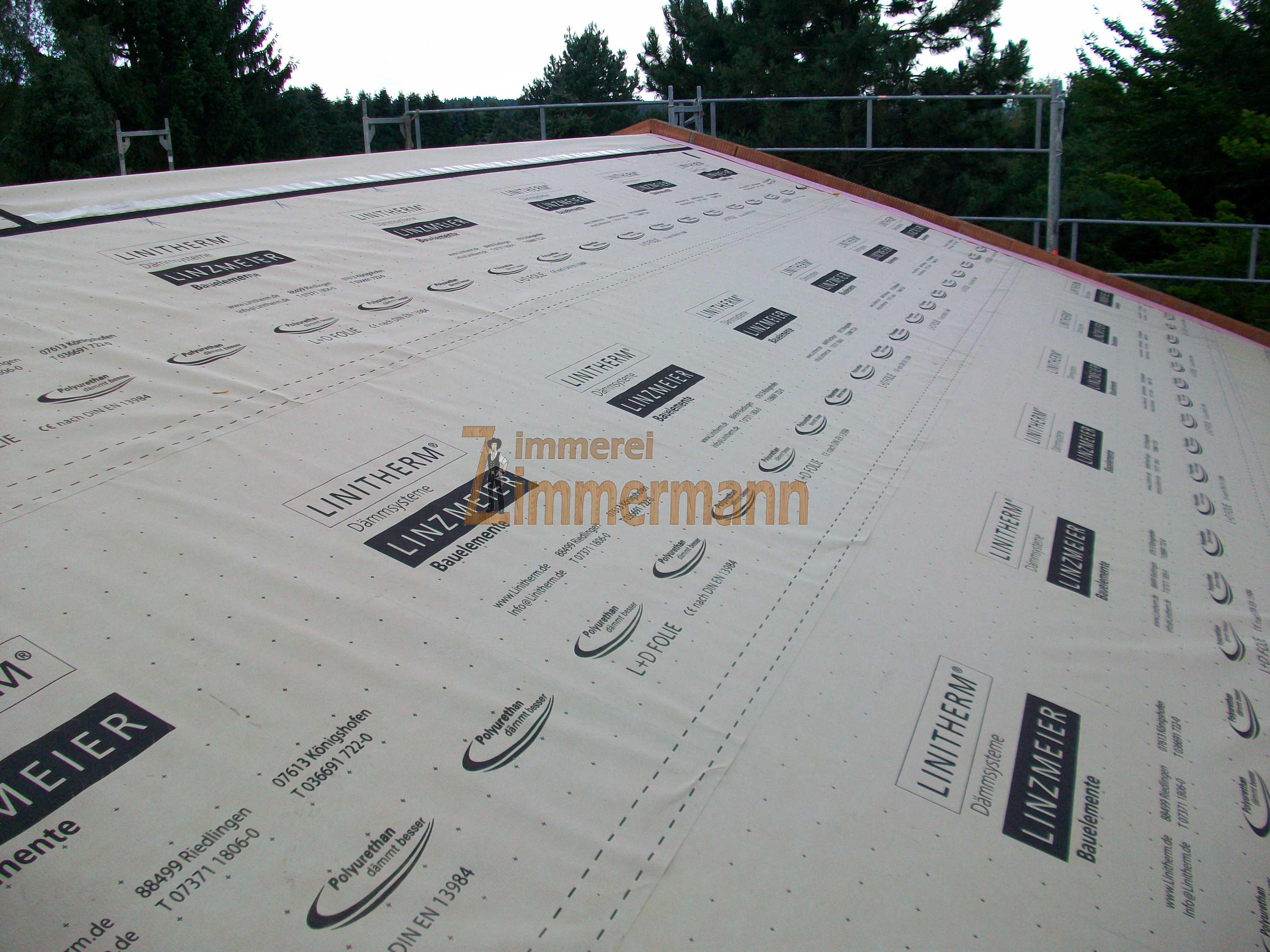 Aufdachdämmung auf Sparrendachstuhl
