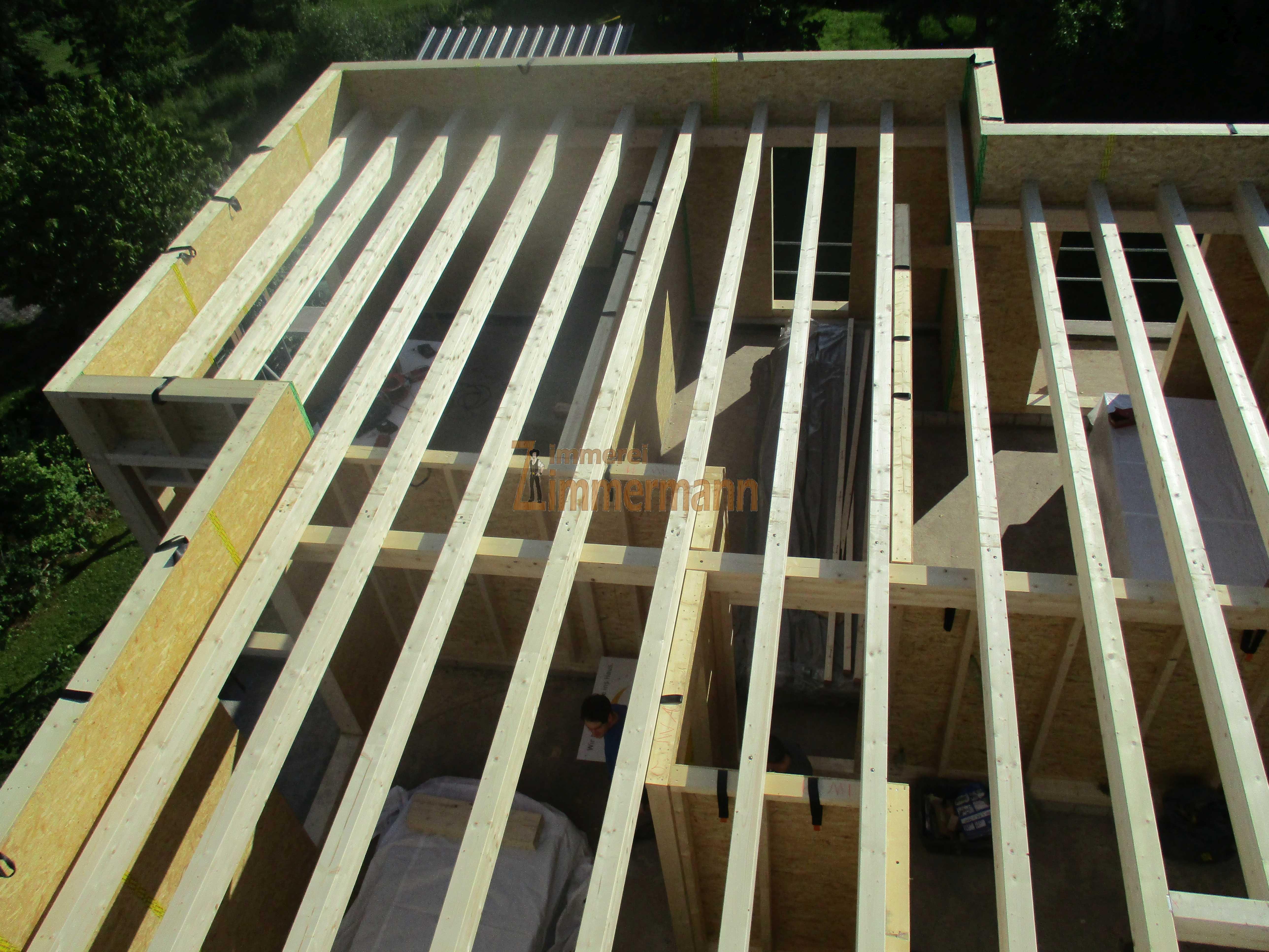 Balkenlage Holzrahmenbau