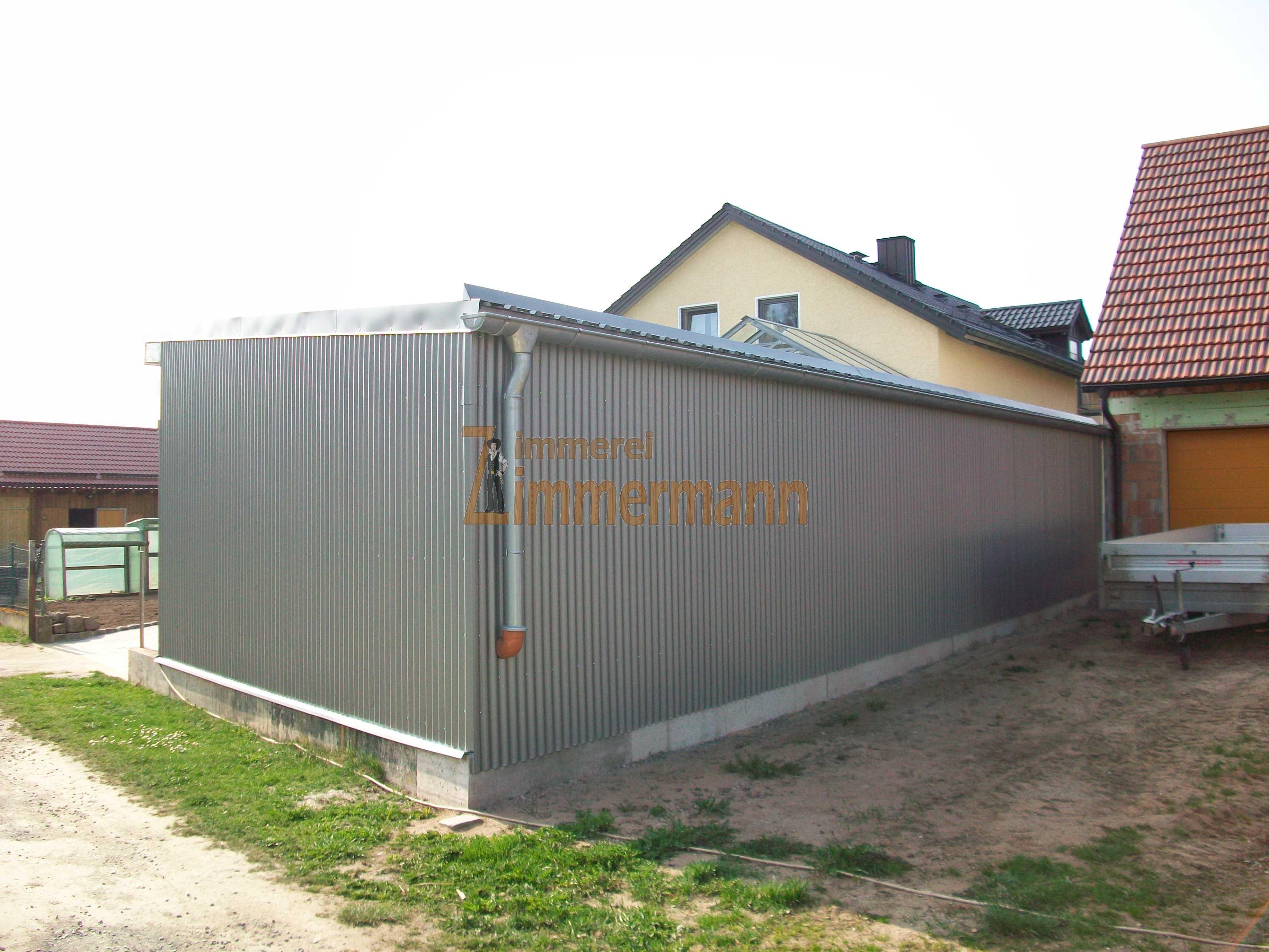 Carport Fassade Aluwellprofil