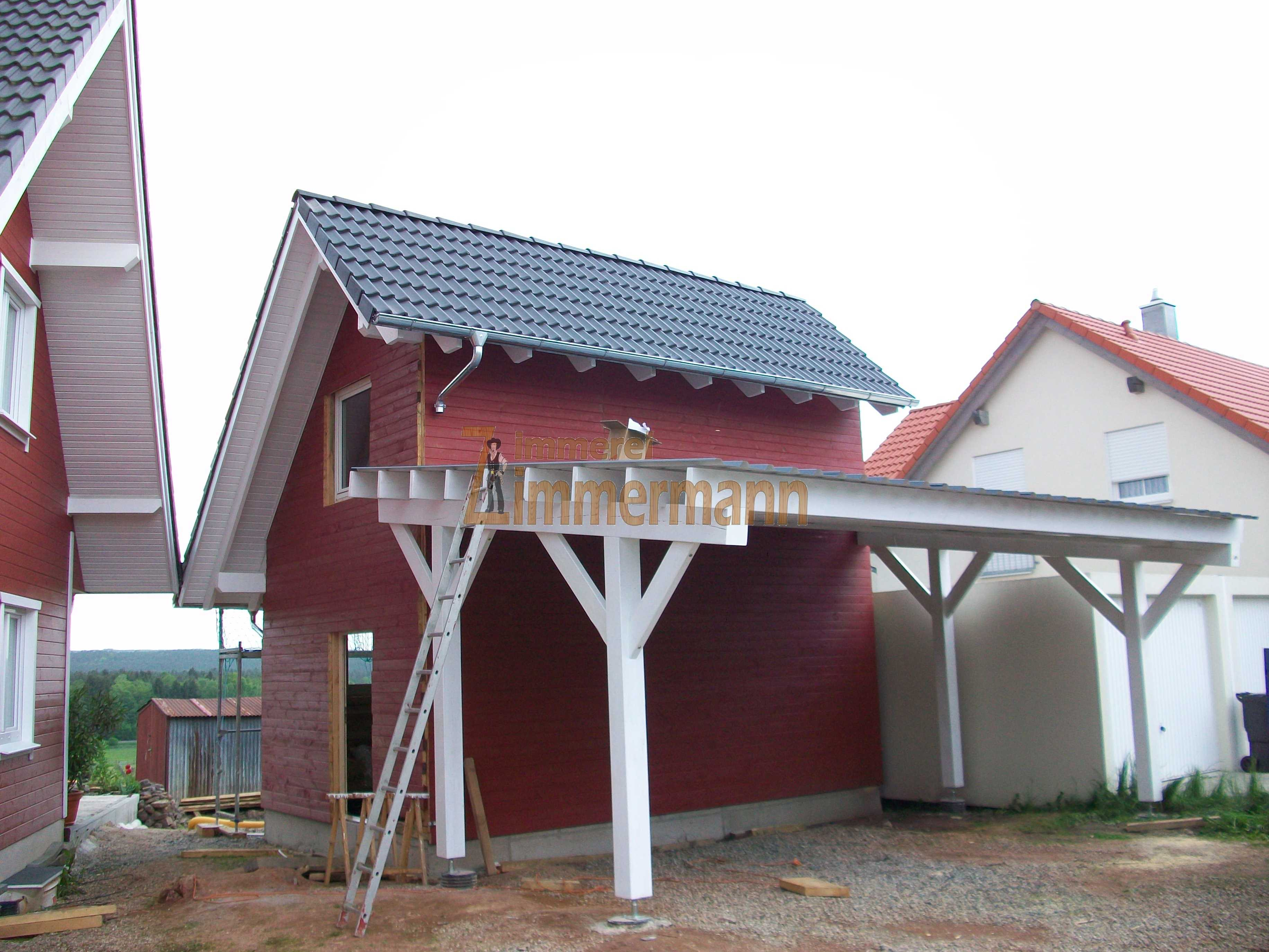 carport mit werkstatt zimmerei zimmermann. Black Bedroom Furniture Sets. Home Design Ideas