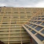 Anbau an bestehendes Wohnhaus mit Aufdachdämmung