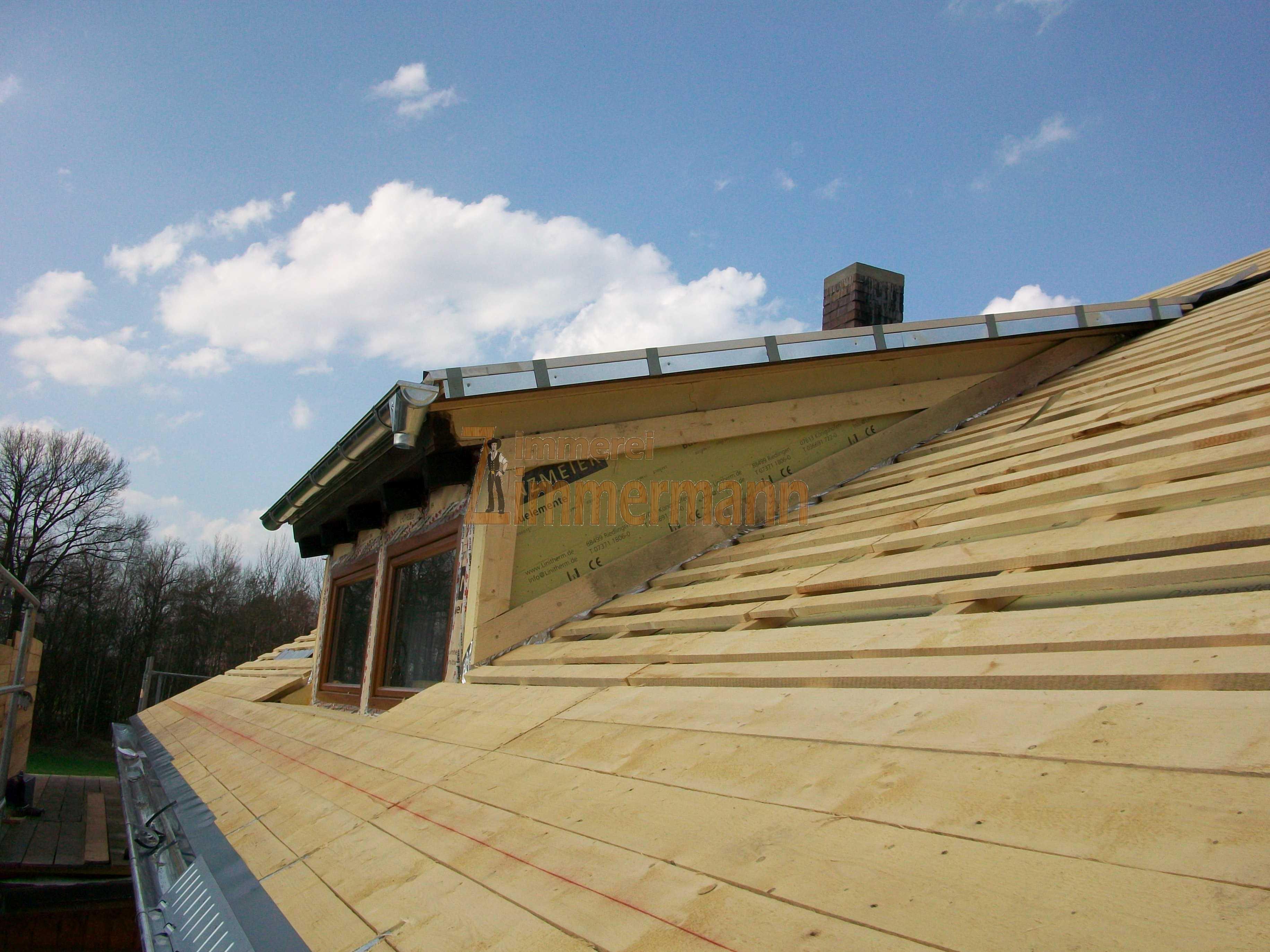 Dachgaubenverkleidung mit Aufdachdämmung