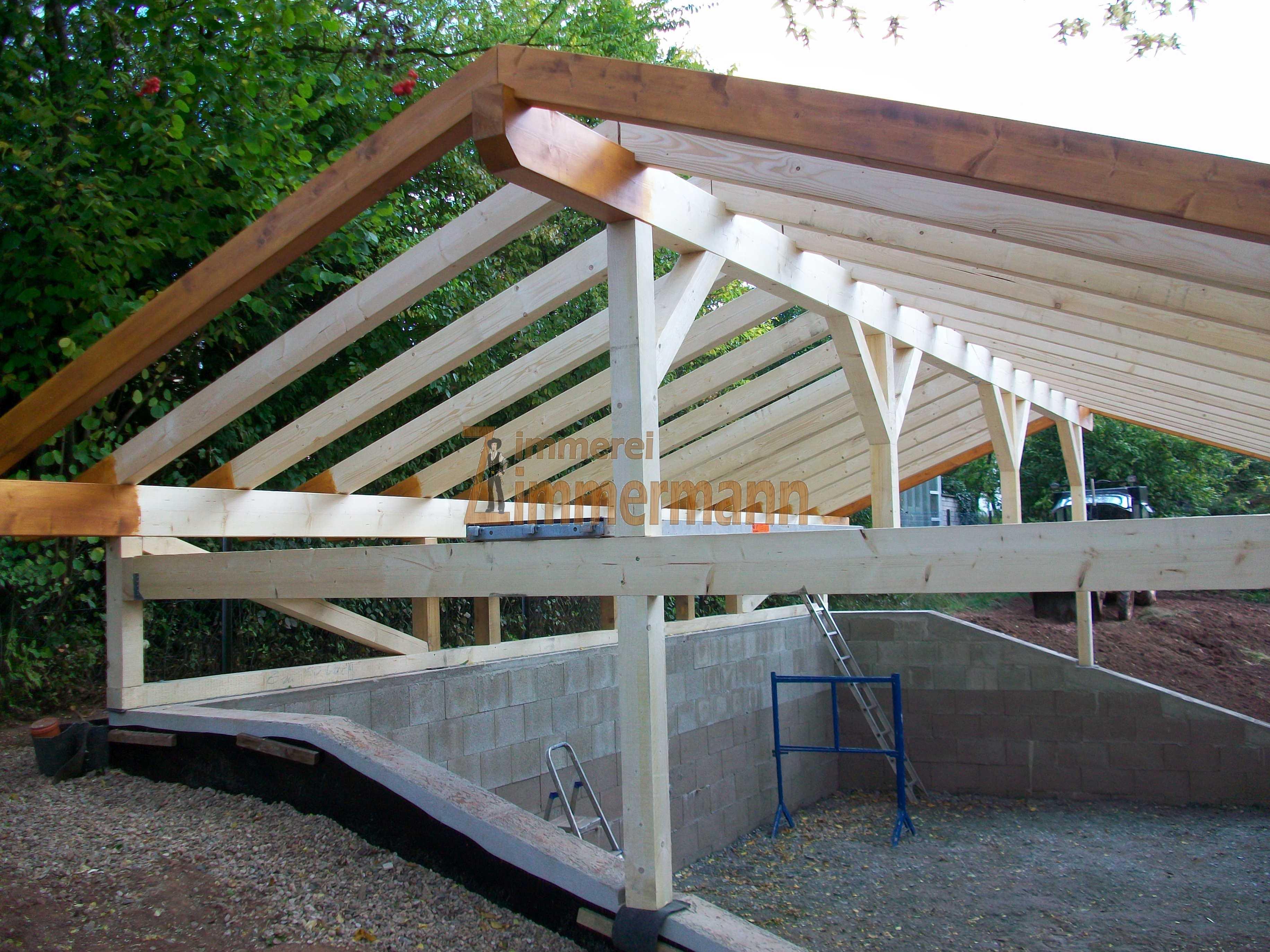 Garage in Holzbauweise