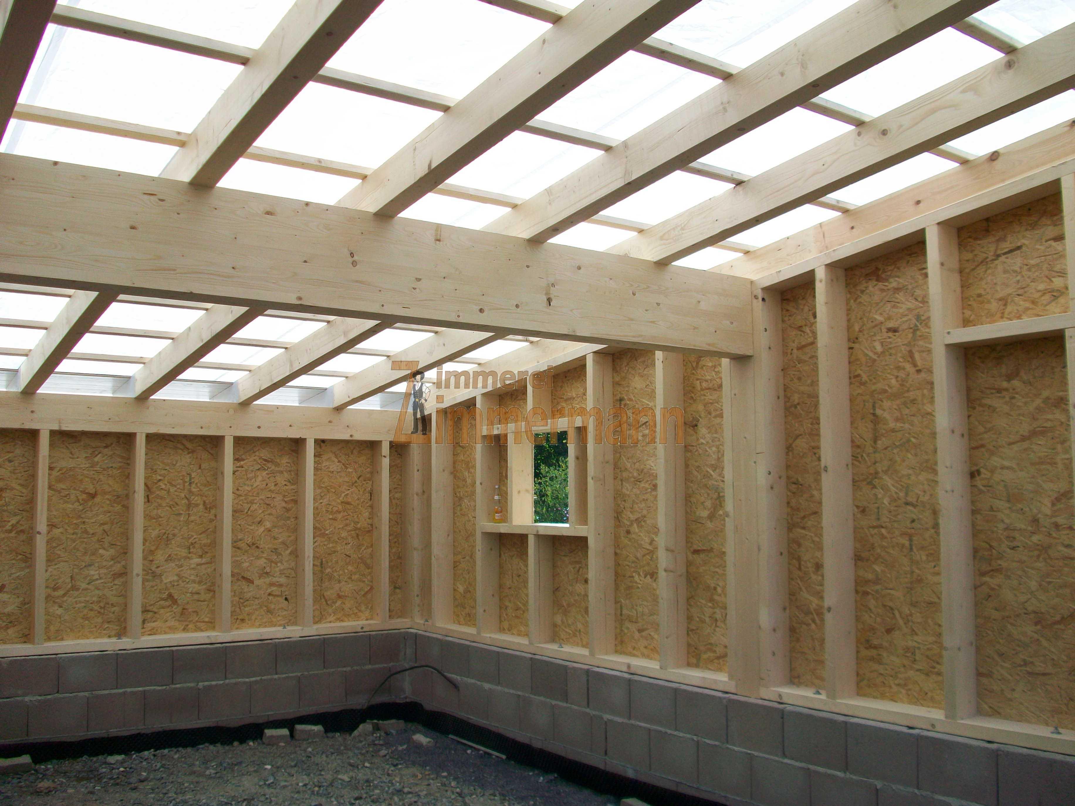 garage in holzrahmenbauweise zimmerei zimmermann. Black Bedroom Furniture Sets. Home Design Ideas